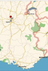 Kartbild Lyon