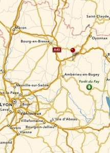 Grotte du Cerdon översiktkarta