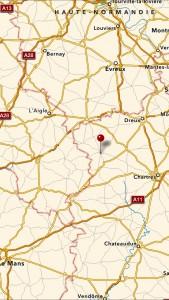Senonches karta översikt