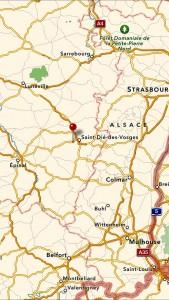 Le Régal karta översikt