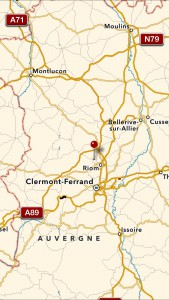 Châtel-Guyon översikt karta